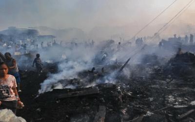 Philippines : un incendie a ravagé un bidonville de Manille